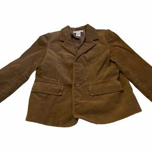 JANIE AND JACK BROWN BOYS CORDUROY JACKET 4T-5T